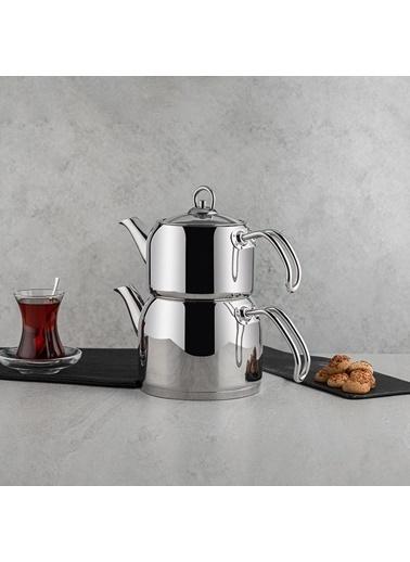 Nehir NEHIR-MODERNMINI Nehir Modern Mini Çaydanlık Takımı 1.60/0.80 Lt Renkli